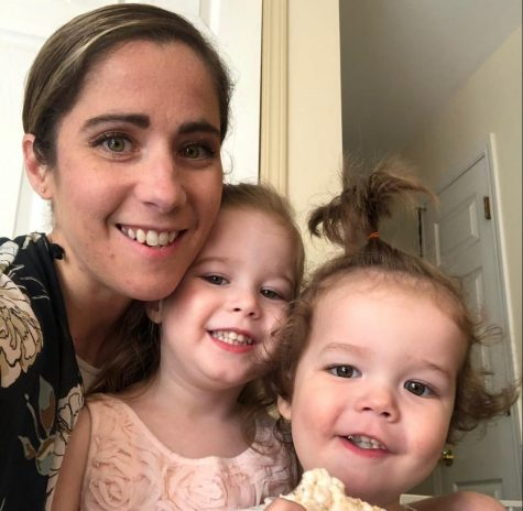 Meredith Barron and her two daughters.