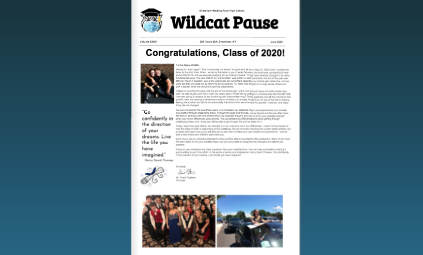 2020 Wildcat Pause Senior Issue