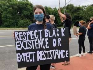 SWR senior Kaylee Thomsen at the BLM protest on June 17, 2020