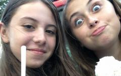 Jessica Platz, sophomore (on left)